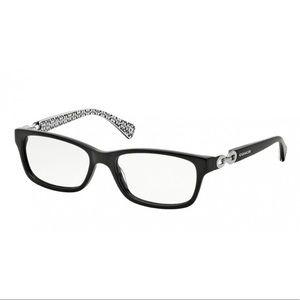 "COACH 🤎 Rx ""Fannie"" Black & White Eyeglass Frames"
